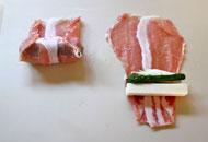 プロボローネの豚肉巻き