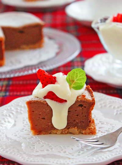 チョコレートチーズケーキ &とろ~りチーズクリーム