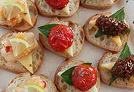3種のチーズのブルスケッタ