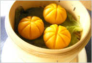 ブルーチーズのかぼちゃ団子